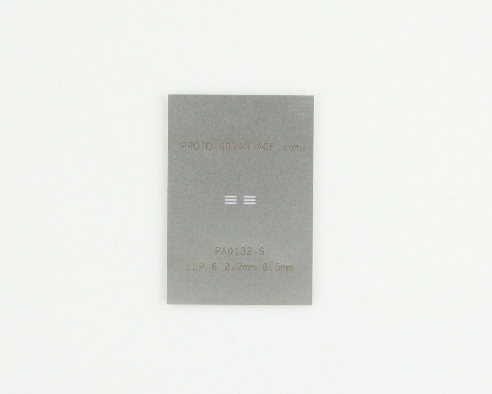 LLP-6 (0.5 mm pitch, 2 x 2 mm body) Stainless Steel Stencil 0