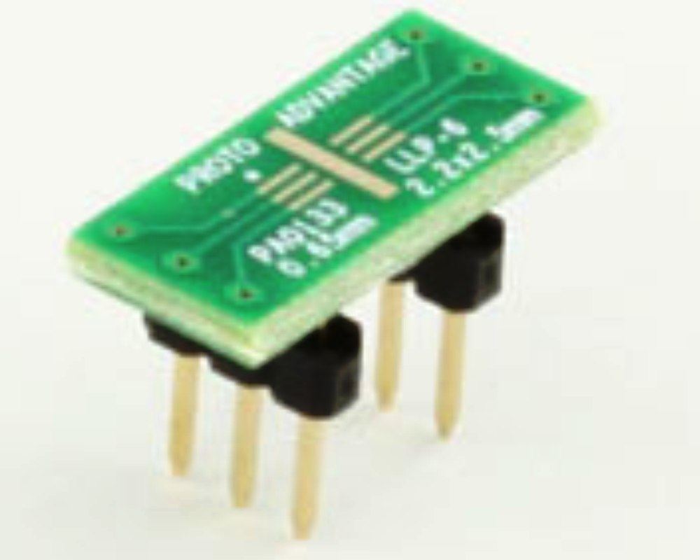 LLP-6 to DIP-6 SMT Adapter (0.65 mm pitch, 2.2 x 2.5 mm body) 0