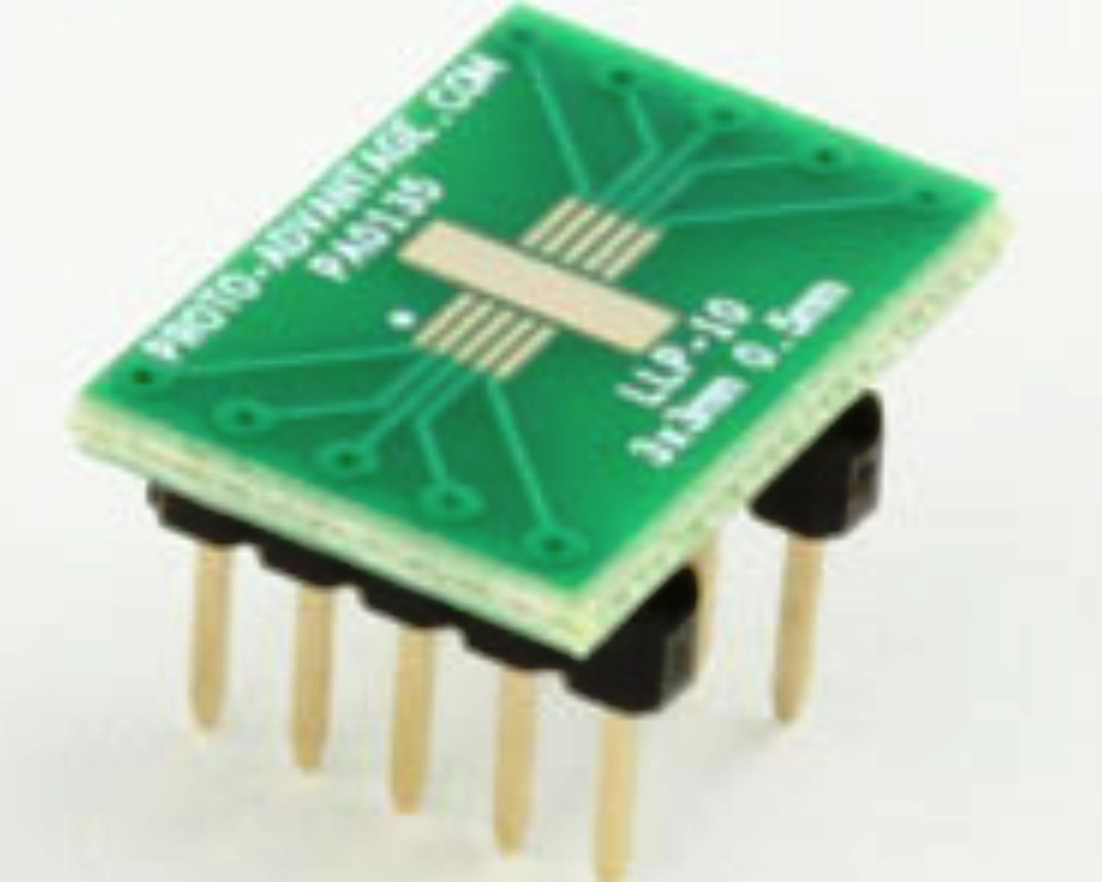 LLP-10 to DIP-10 SMT Adapter (0.5 mm pitch, 3 x 3 mm body) 0