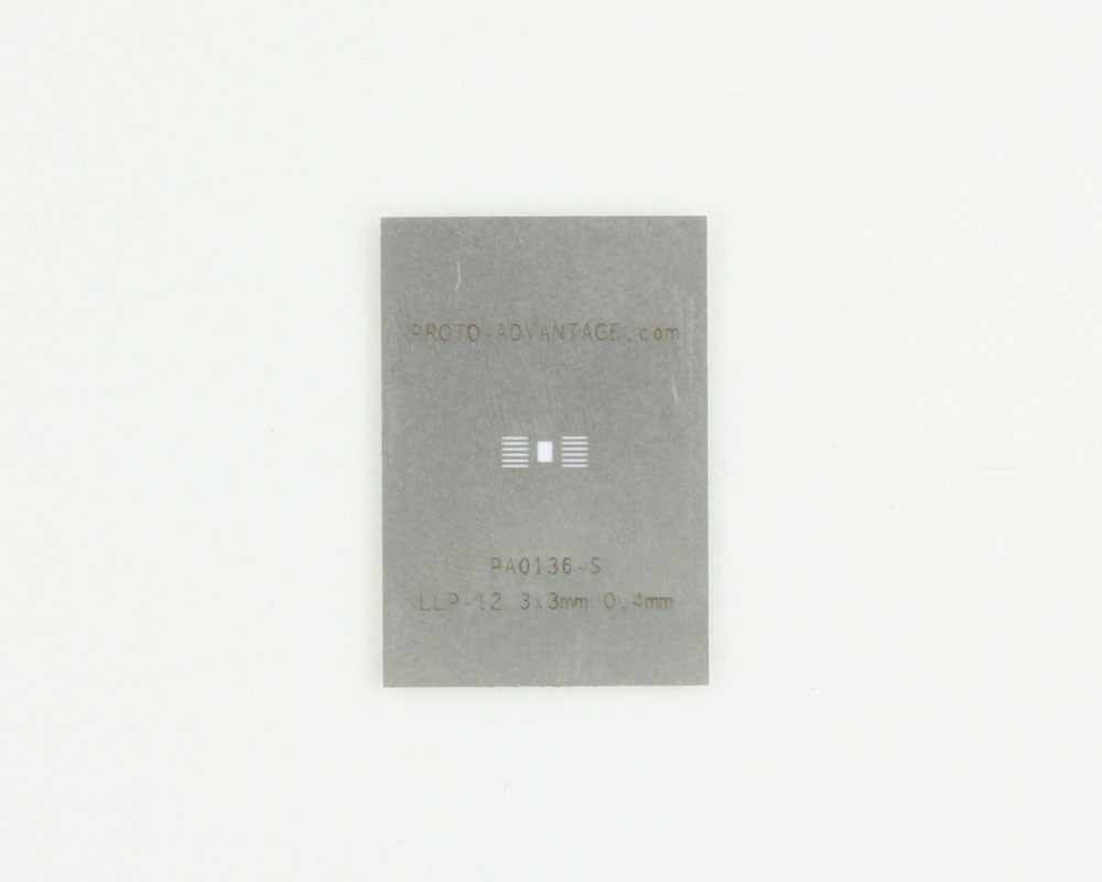 LLP-12 (0.4 mm pitch, 3 x 3 mm body) Stainless Steel Stencil 0