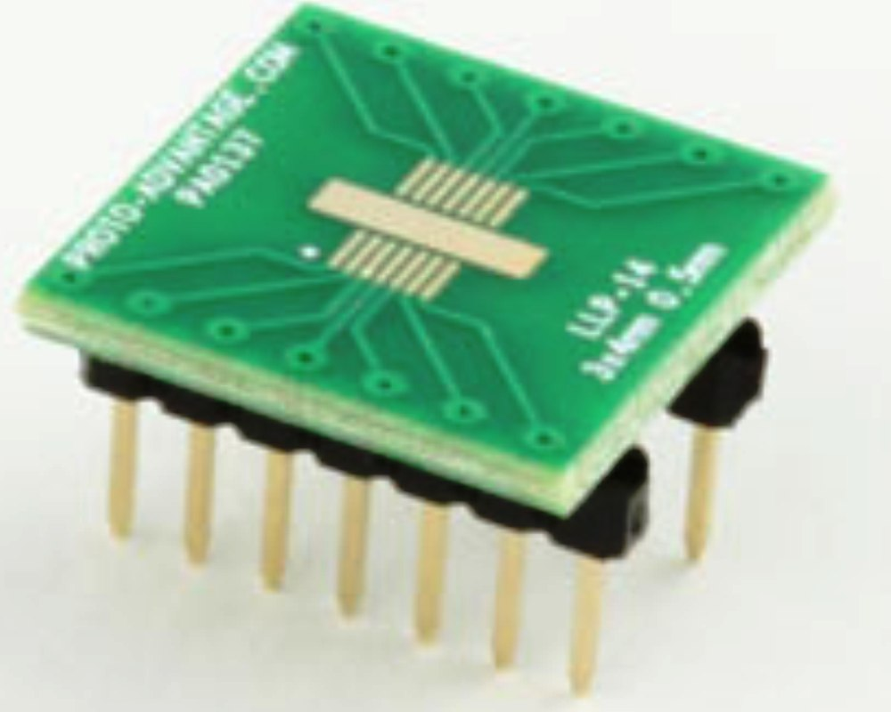LLP-14 to DIP-14 SMT Adapter (0.5 mm pitch, 3 x 4 mm body) 0