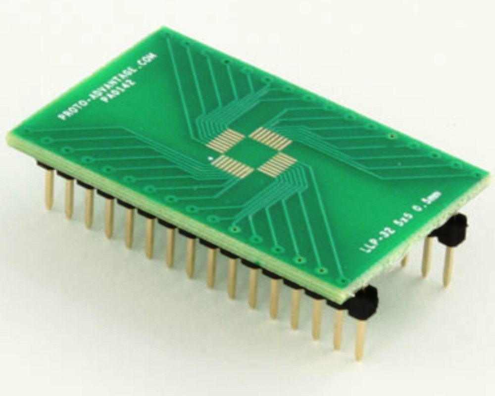 LLP-32 to DIP-32 SMT Adapter (0.5 mm pitch, 5 x 5 mm body) 0