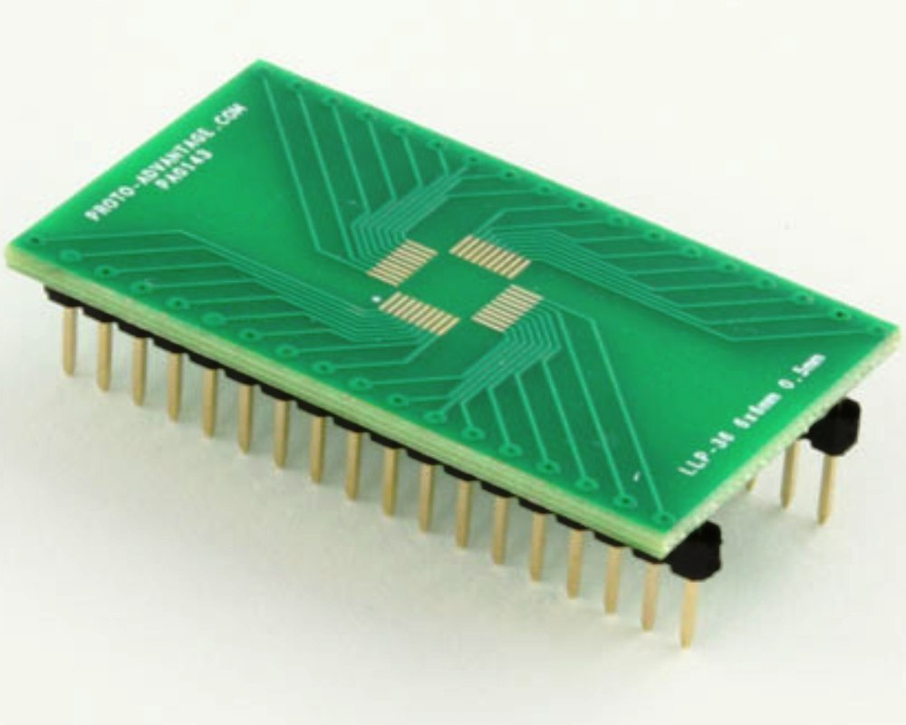 LLP-36 to DIP-36 SMT Adapter (0.5 mm pitch, 6 x 6 mm body) 0