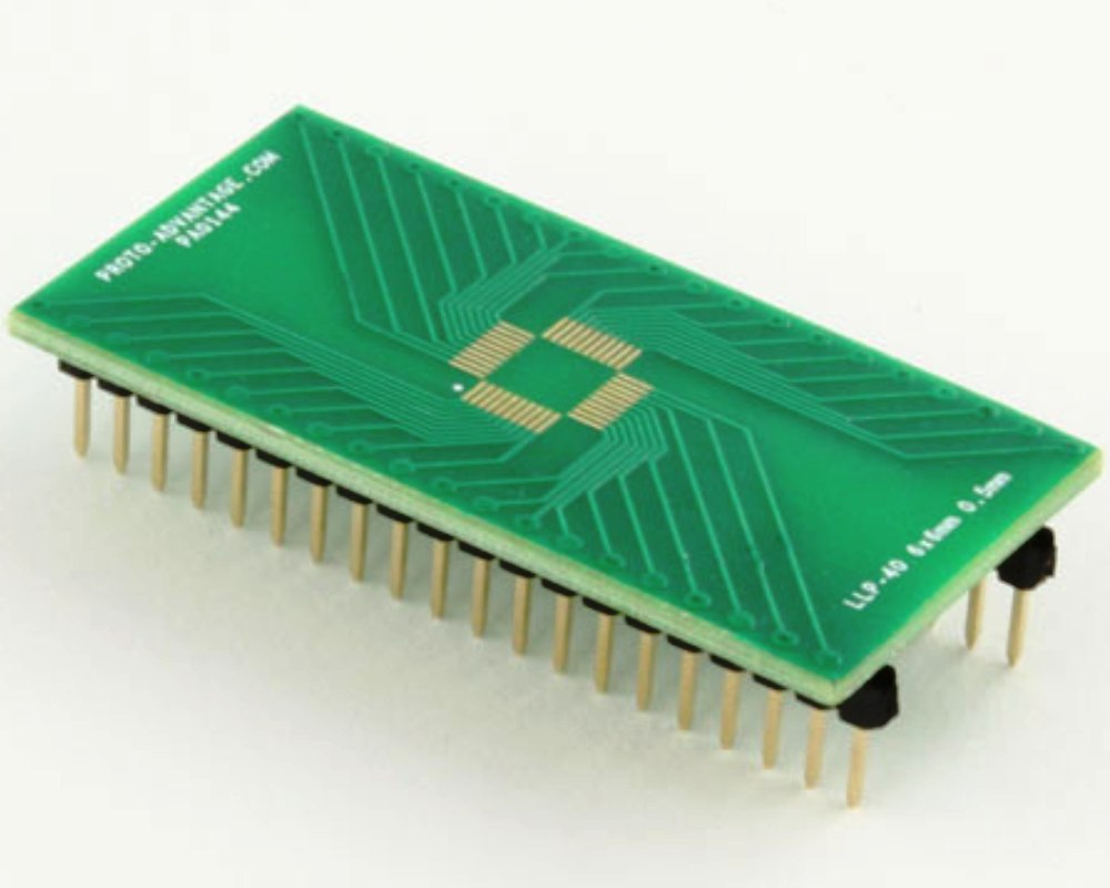 LLP-40 to DIP-40 SMT Adapter (0.5 mm pitch, 6 x 6 mm body) 0