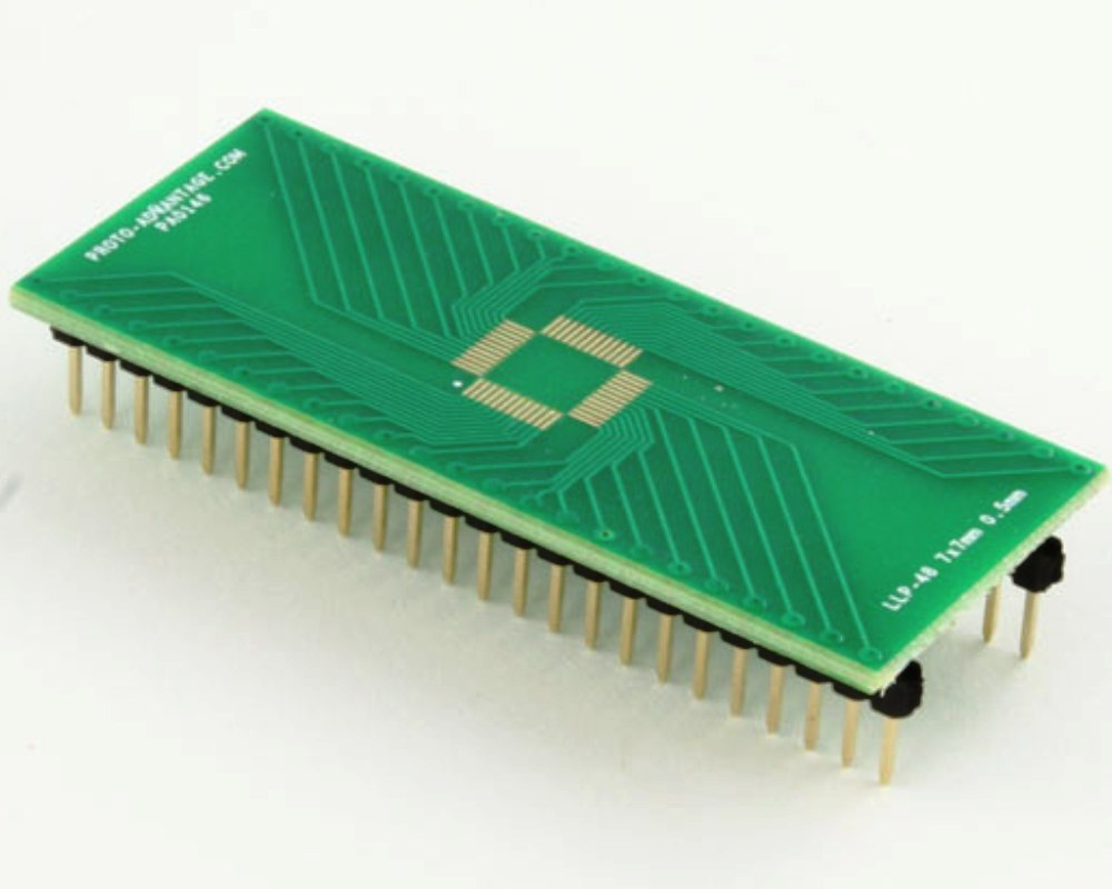 LLP-48 to DIP-48 SMT Adapter (0.5 mm pitch, 7 x 7 mm body) 0