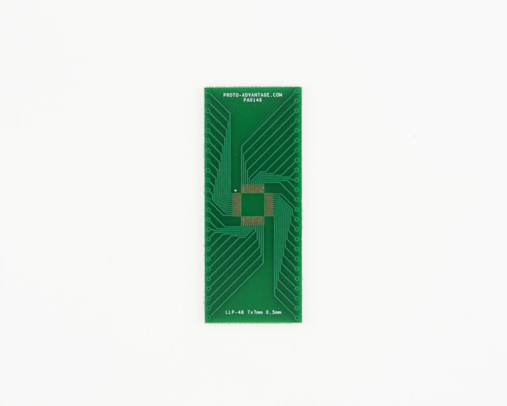 LLP-48 to DIP-48 SMT Adapter (0.5 mm pitch, 7 x 7 mm body) 2