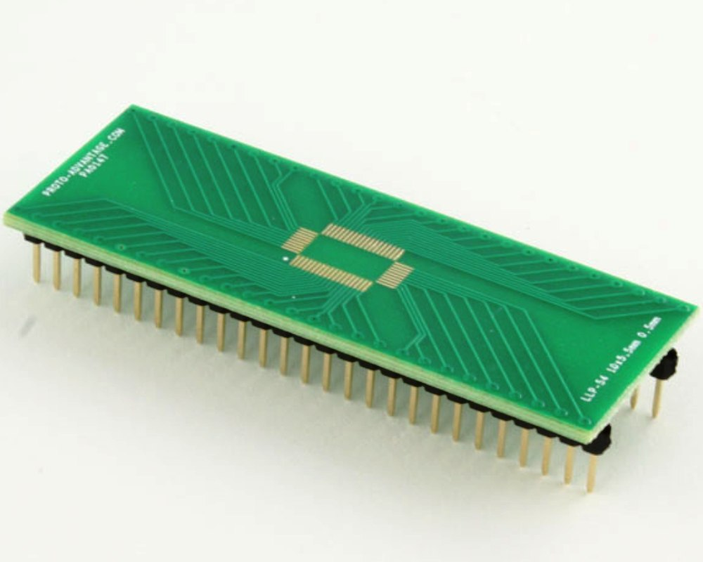 LLP-54 to DIP-54 SMT Adapter (0.5 mm pitch, 10 x 5.5 mm body) 0