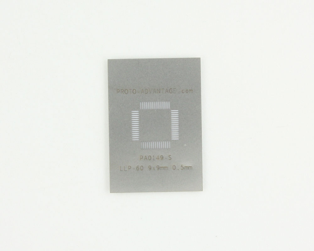 LLP-60 (0.5 mm pitch, 9 x 9 mm body) Stainless Steel Stencil 0