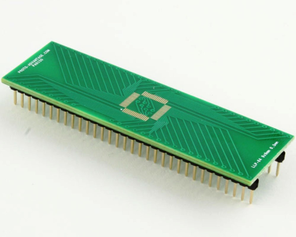 LLP-64 to DIP-64 SMT Adapter (0.5 mm pitch, 9 x 9 mm body) 0
