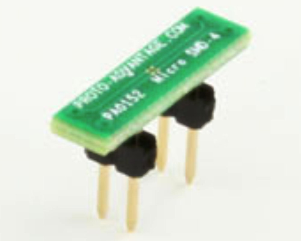 MicroSMD-4 BGA-4 (0.5 mm pitch) to DIP-4 SMT Adapter 0