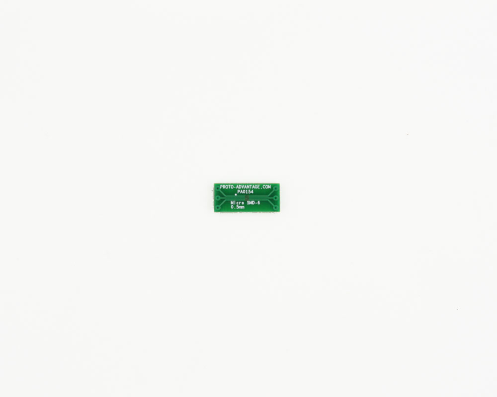 MicroSMD-6 BGA-6 (0.5 mm pitch) to DIP-6 SMT Adapter 2