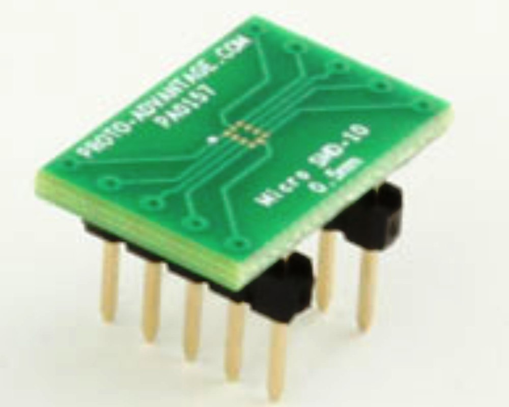 MicroSMD-10 BGA-10 (0.5 mm pitch) to DIP-10 SMT Adapter 0