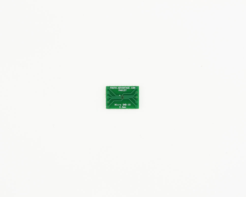 MicroSMD-10 BGA-10 (0.5 mm pitch) to DIP-10 SMT Adapter 2