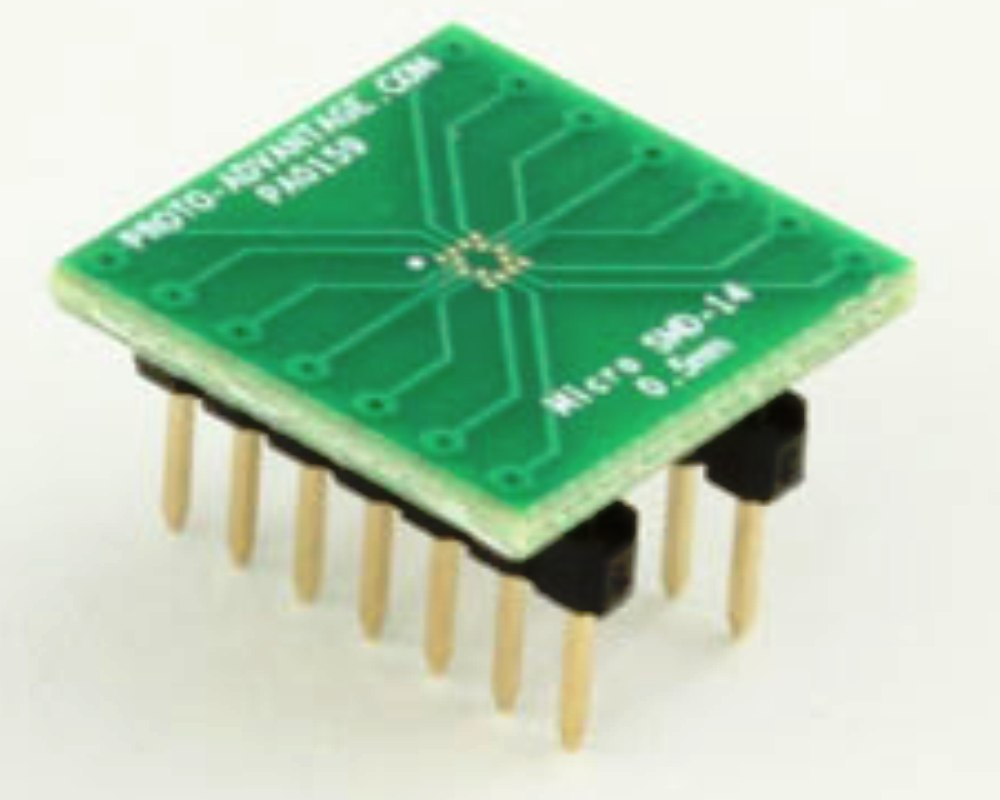 MicroSMD-14 BGA-14 (0.5 mm pitch) to DIP-14 SMT Adapter 0