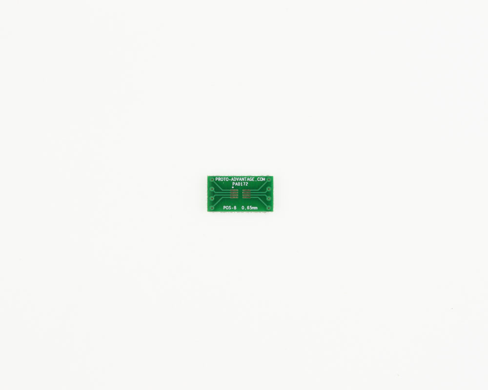 POS-8 to DIP-8 SMT Adapter (0.65 mm pitch, 3.00 x 2.50 mm body) 2