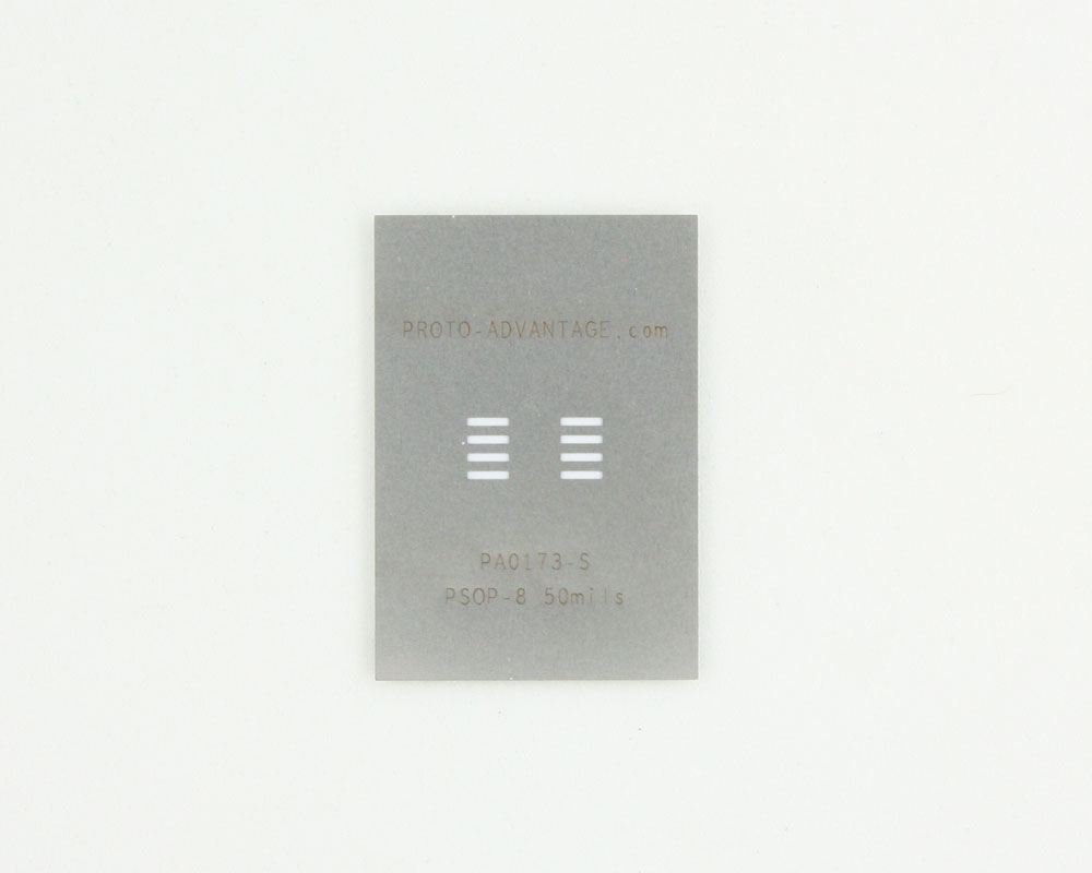 PSOP-8 (50 mils / 1.27 mm pitch) Stainless Steel Stencil 0