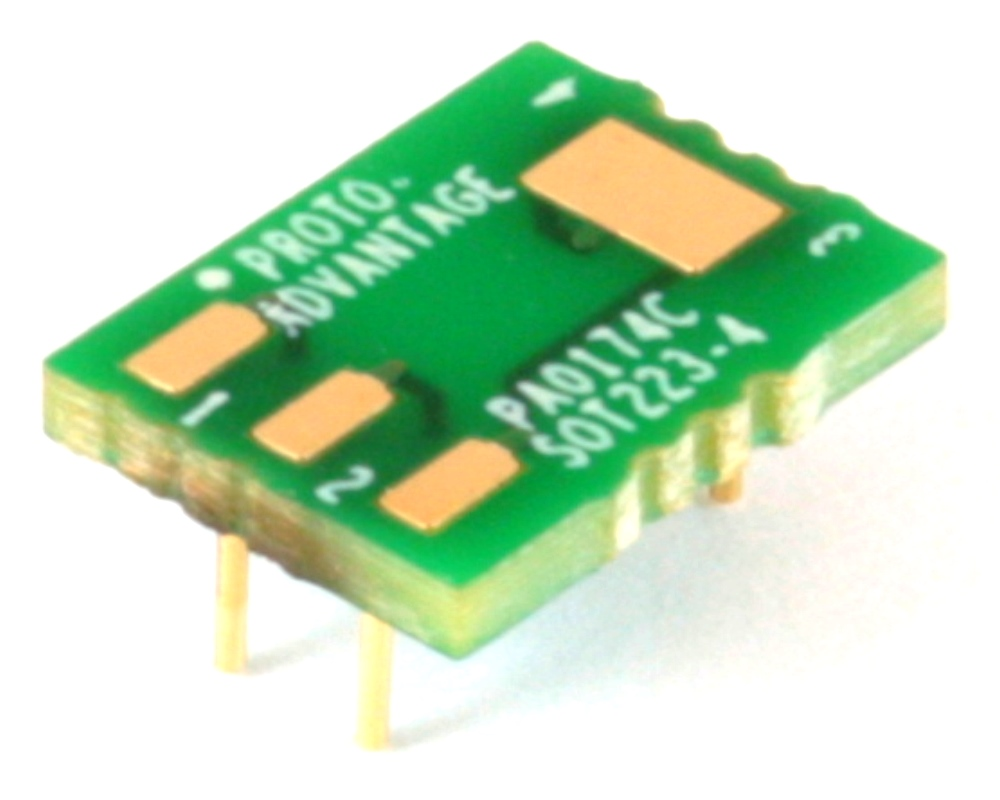 SOT-223-4 to DIP-6 SMT Adapter (2.3 mm pitch) Compact Series 0