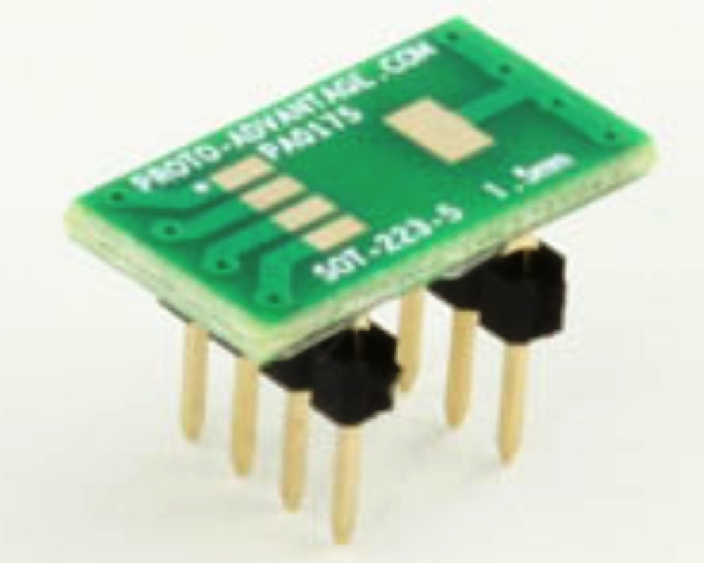SOT-223-5 to DIP-8 SMT Adapter (1.5 mm pitch) 0