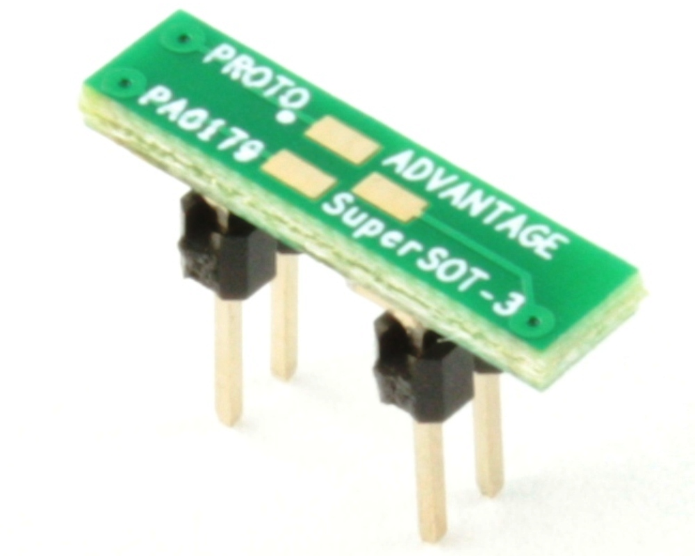 SuperSOT-3 to DIP-4 SMT Adapter (0.95 mm pitch, 3.0x1.5 mm body) 0
