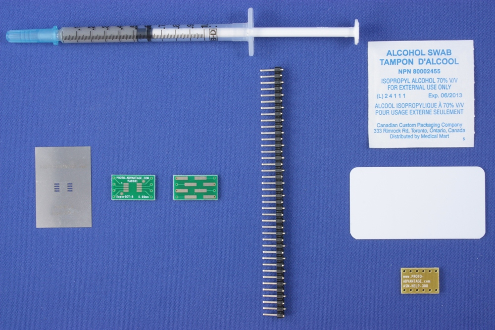SuperSOT-8 (0.95 mm pitch, 4.0x3.3 mm body) PCB and Stencil Kit 0