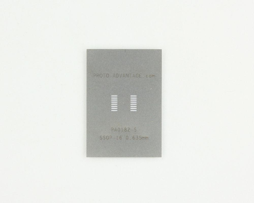 SSOP-16 (0.635 mm pitch) Stainless Steel Stencil 0