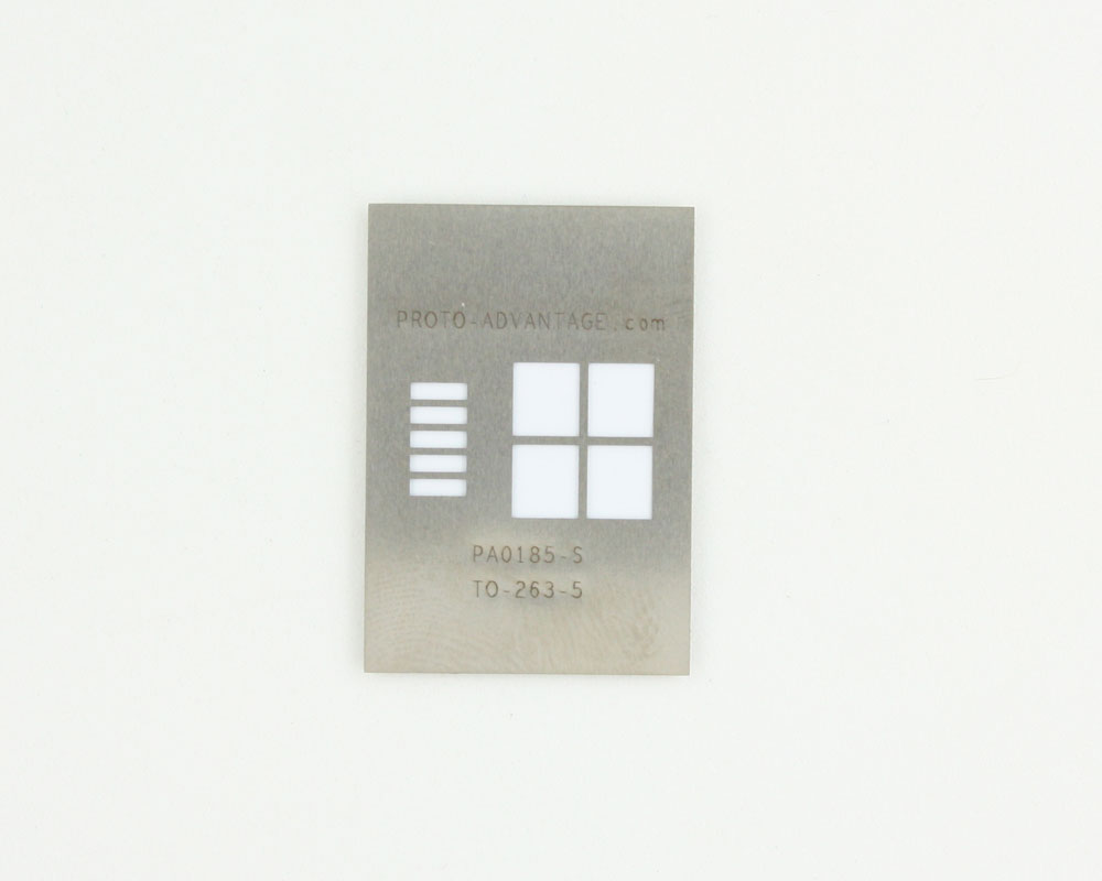 TO-263-5-THIN (1.7 mm pitch) Stainless Steel Stencil 0