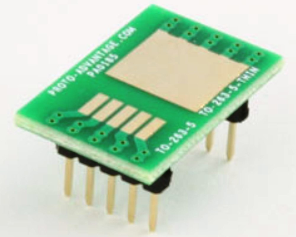 TO-263-5-THIN to DIP-10 SMT Adapter (1.7 mm pitch) 0