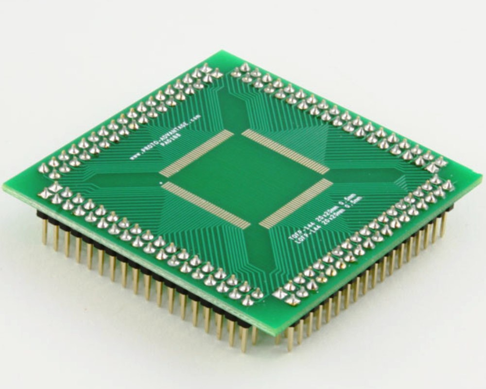 TQFP-144 to PGA-144 SMT Adapter (0.5 mm pitch, 20 x 20 mm body) 0