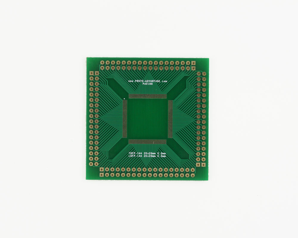 LQFP-144 to PGA-144 SMT Adapter (0.5 mm pitch, 20 x 20 mm body) 2