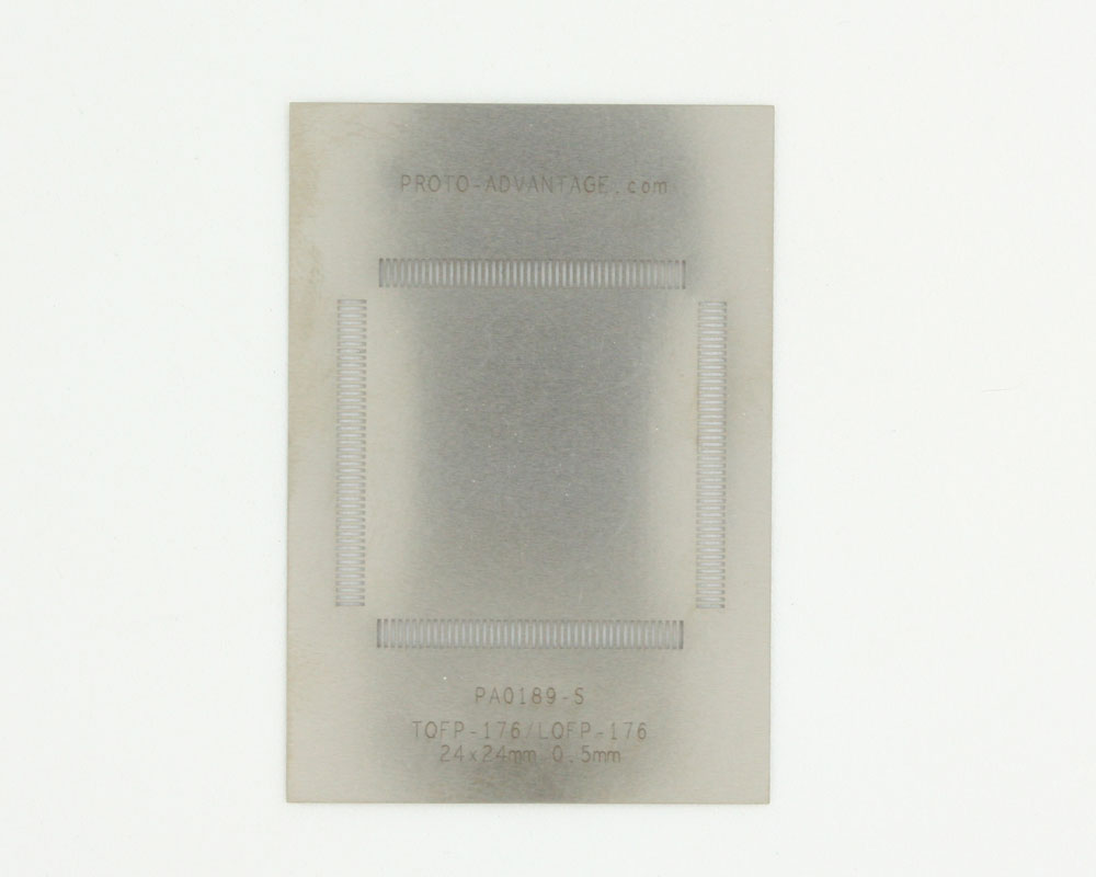TQFP-176 (0.5 mm pitch, 24 x 24 mm body) Stainless Steel Stencil 0