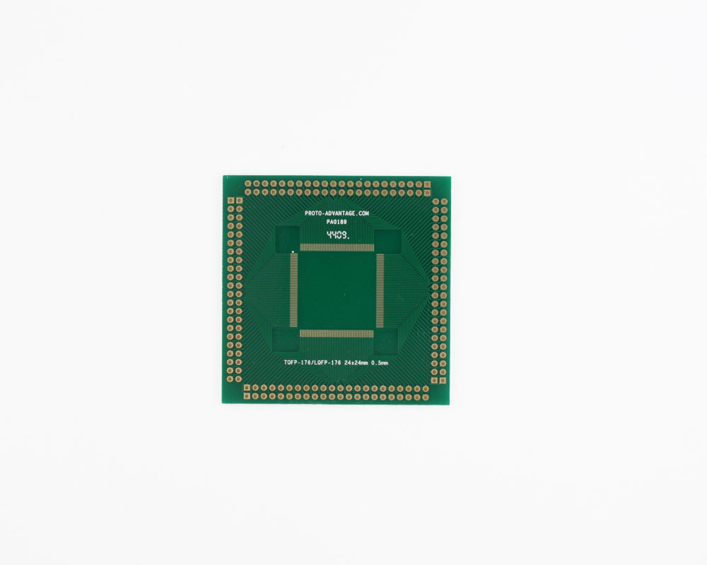 TQFP-176 to PGA-176 SMT Adapter (0.5 mm pitch, 24 x 24 mm body) 0