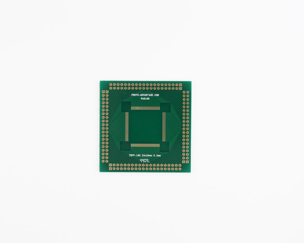 TQFP-160 to PGA-160 SMT Adapter (0.5 mm pitch, 24 x 24 mm body) 0