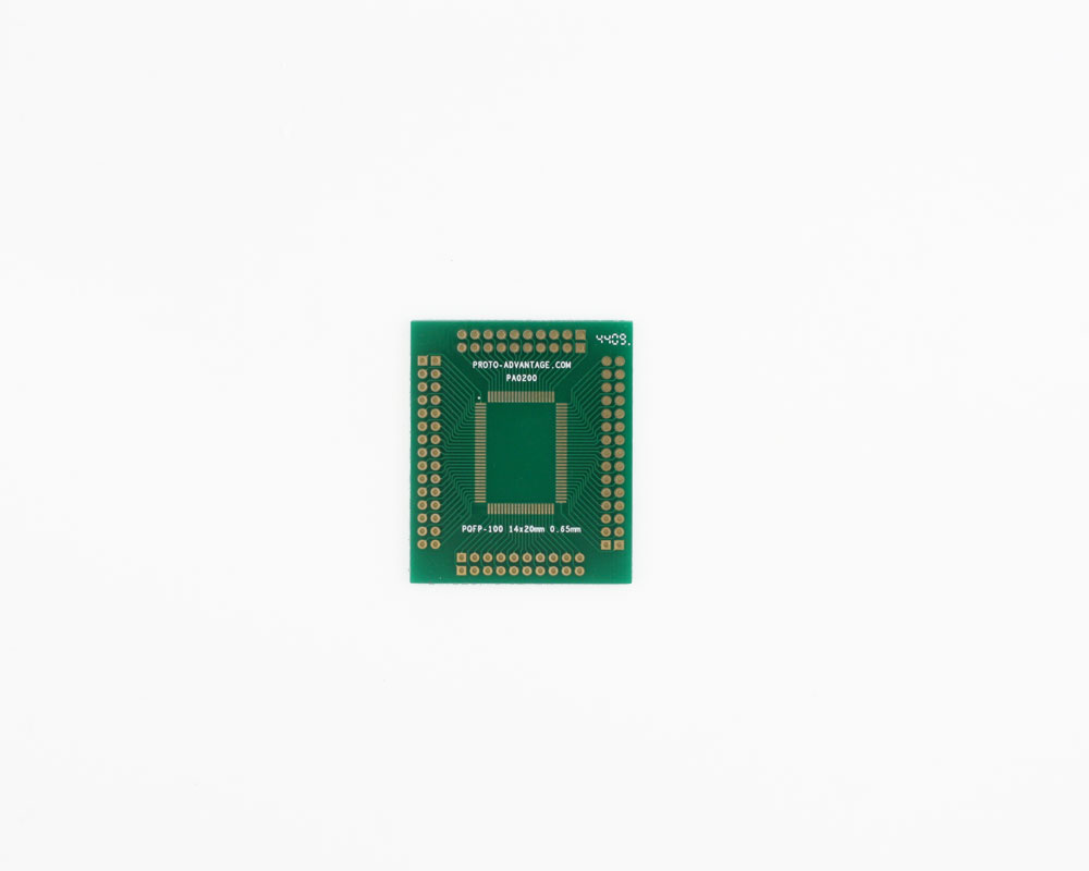 PQFP-100 to PGA-100 SMT Adapter (0.65 mm pitch, 14 x 20 mm body) 0