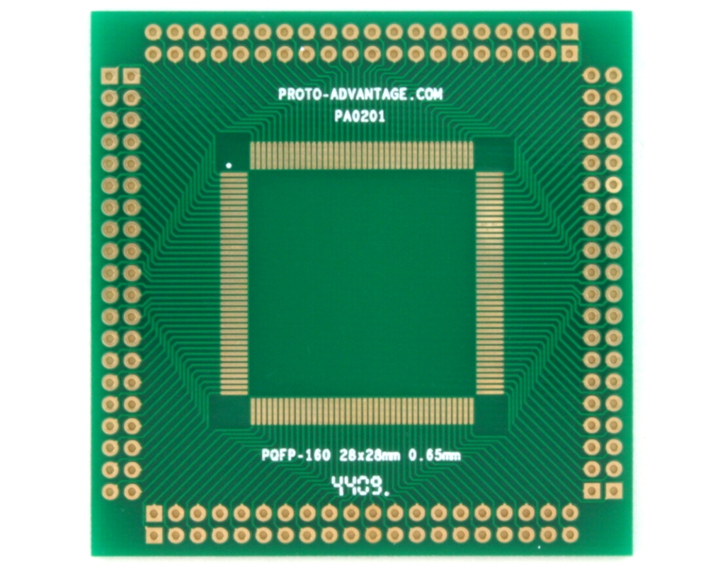 PQFP-160 to PGA-160 SMT Adapter (0.65 mm pitch, 28 x 28 mm body) 0