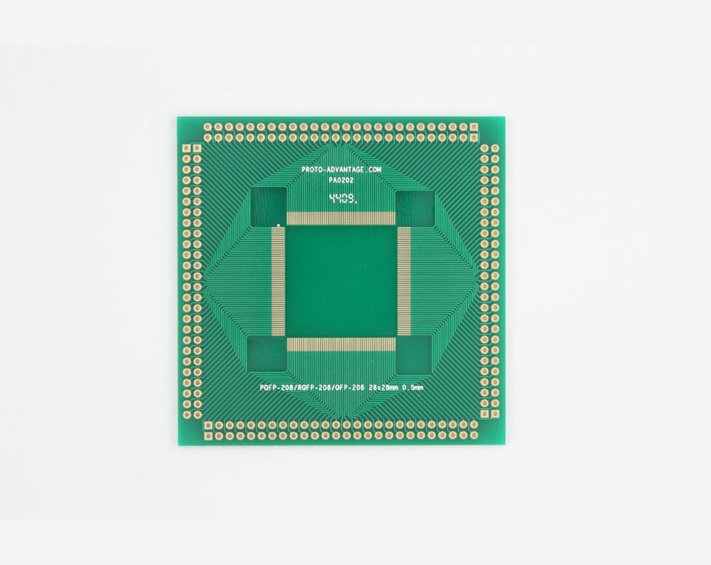 RQFP-208 to PGA-208 SMT Adapter (0.5 mm pitch, 28 x 28 mm body) 0