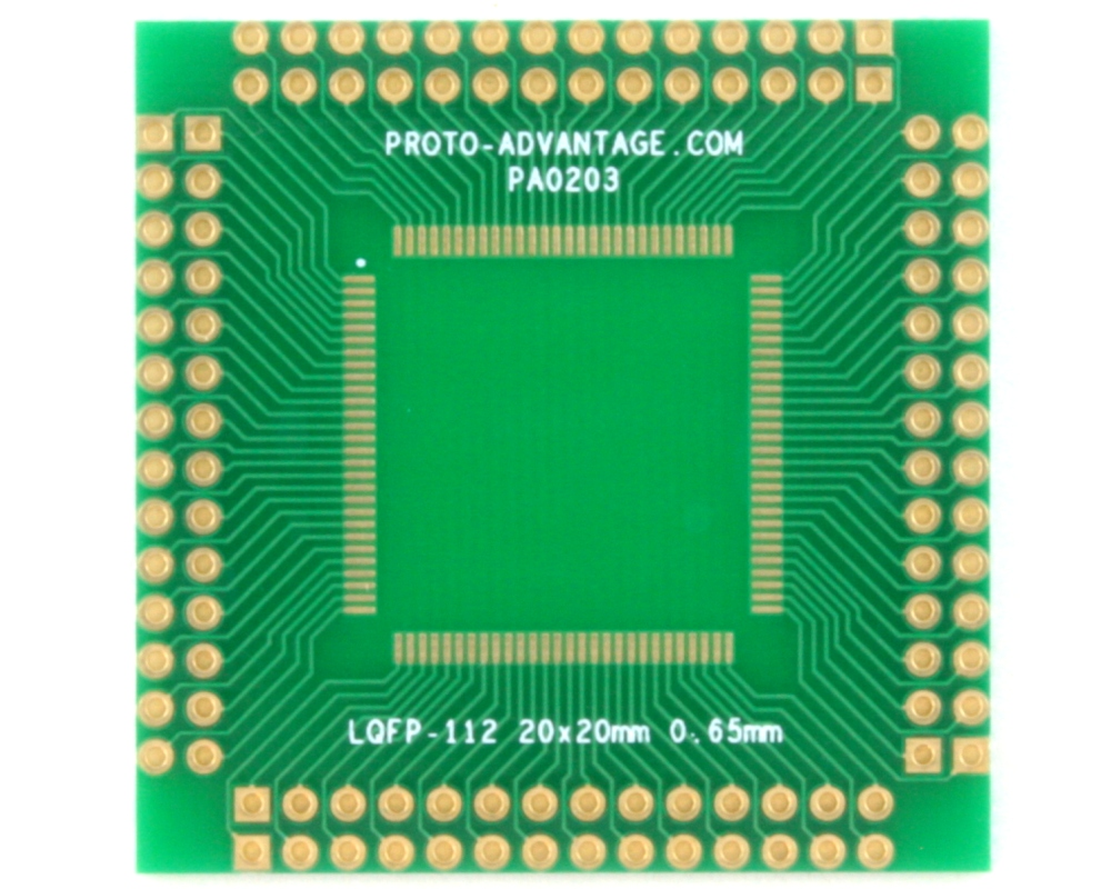 LQFP-112 to PGA-112 Adapter (0.65 mm pitch, 20 x 20 mm body) 0