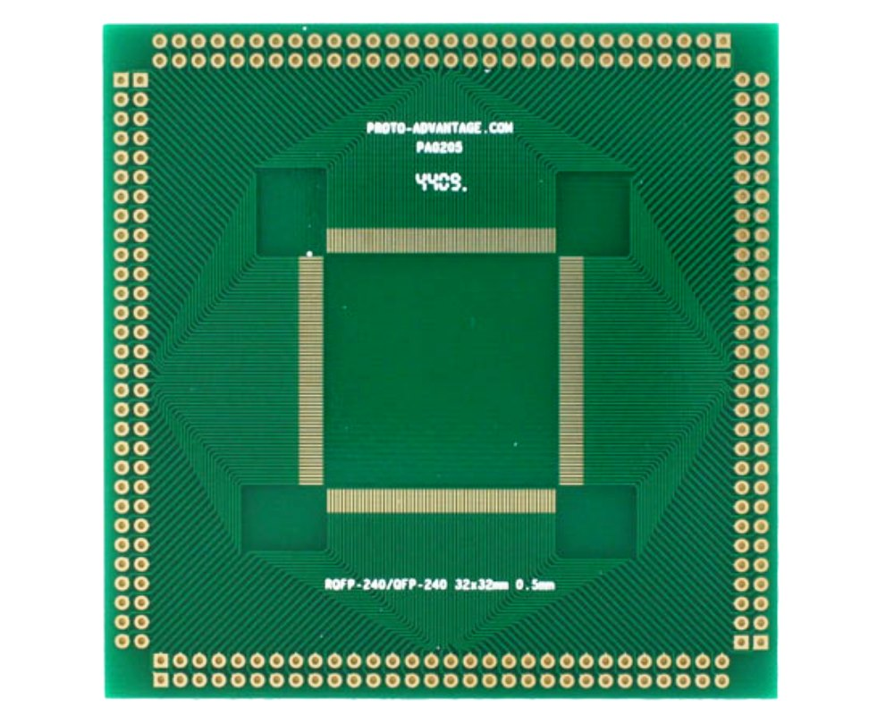 RQFP-240 to PGA-240 SMT Adapter (0.5 mm pitch, 32 x 32 mm body) 0
