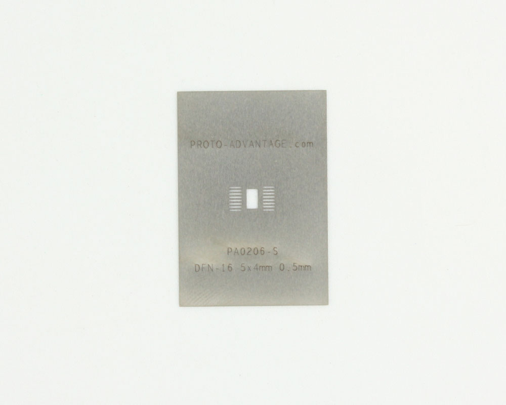 DFN-16-Exp-Pad (0.5 mm pitch, 5x4 mm body) Steel Stencil 0