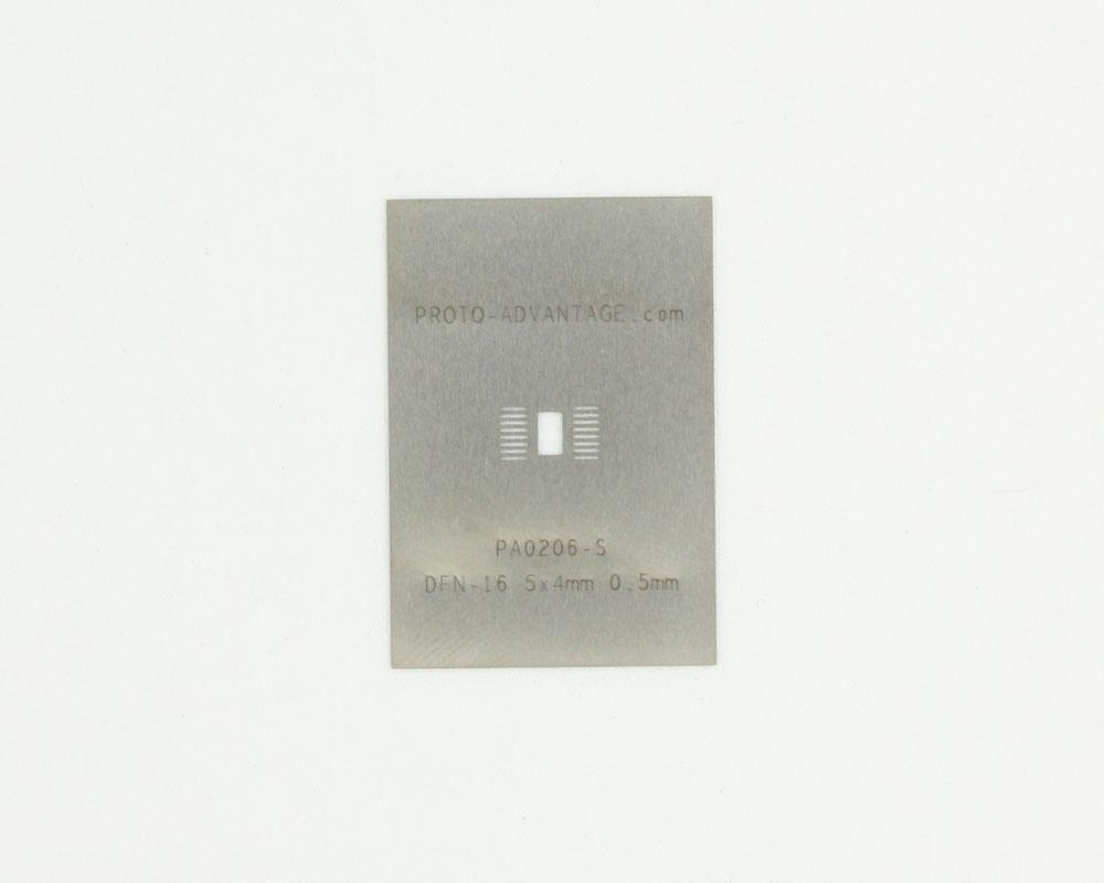 DFN-16-Exp-Pad (0.5 mm pitch, 5x4 mm body) Steel Stencil 0