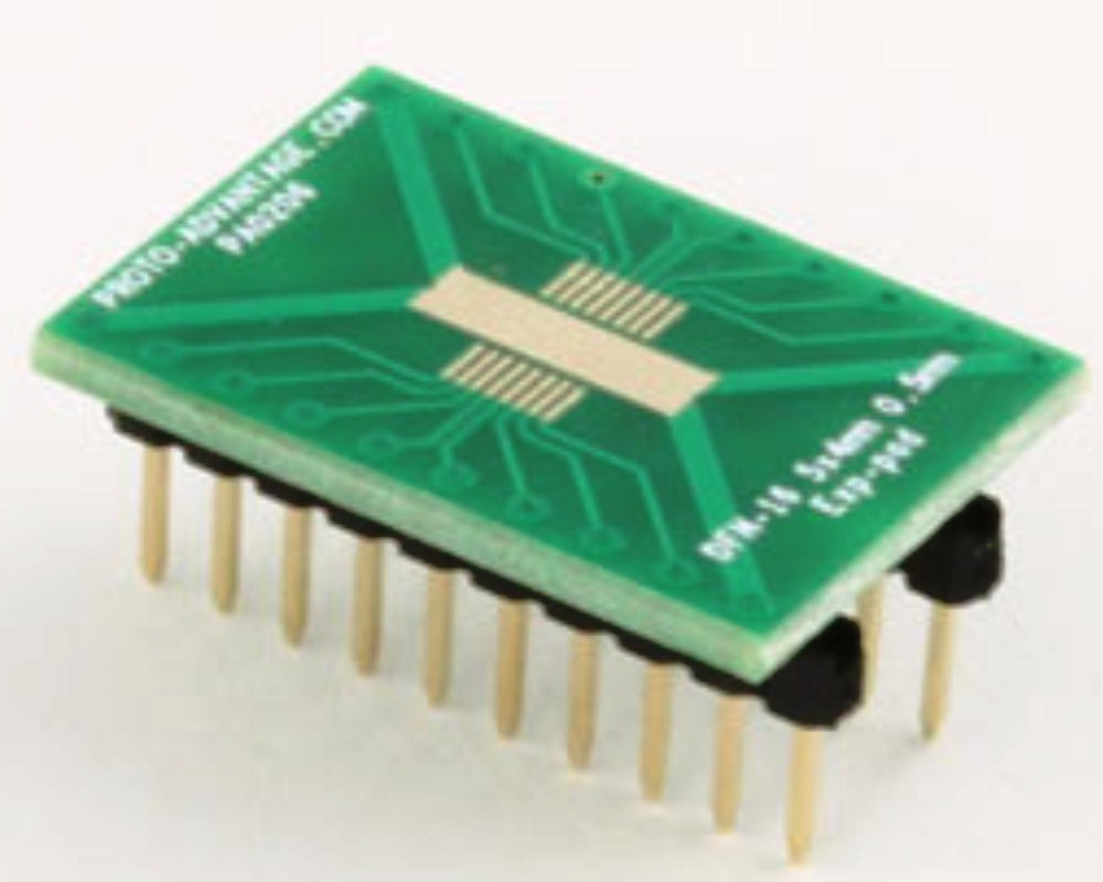 DFN-16-Exp-Pad to DIP-20 SMT Adapter (0.5 mm pitch, 5x4 mm body) 0
