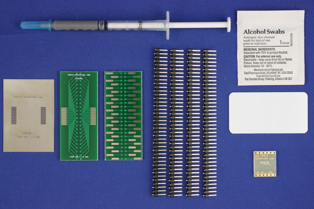 TSOP-48 (I) (0.5 mm pitch, 16-22 mm body) PCB and Stencil Kit 0