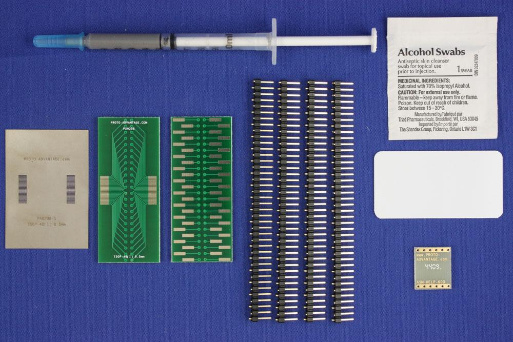 TSOP-48 (I) (0.5 mm pitch, 16-22 mm body) PCB and Stencil Kit 0