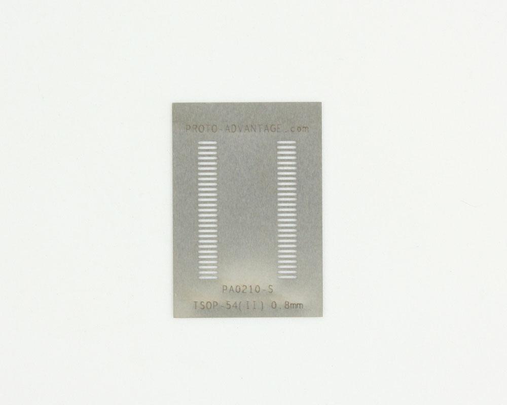 TSOP-54 (II) (0.8 mm pitch, 10.16 mm body) Steel Stencil 0