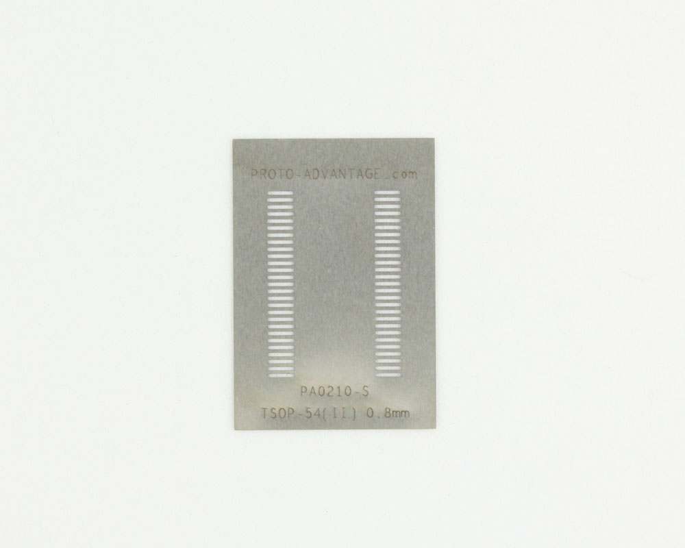 TSOP-54 (II) (0.8 mm pitch, 10.16 mm body) Steel Stencil 0