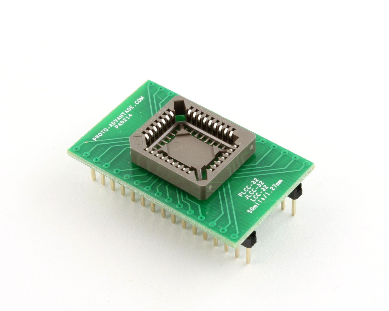 PLCC-32 Socket to DIP-32 Adapter (50 mils / 1.27 mm pitch) 0