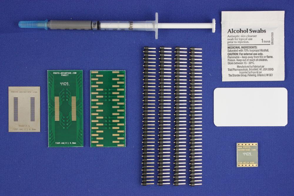 TSOP-44 (II) (0.8 mm pitch, 10.16 mm body) PCB and Stencil Kit 0