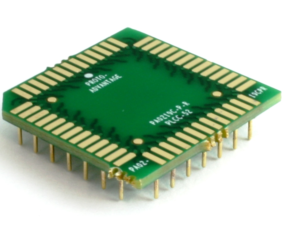 PLCC-52 to PGA-52 Pin 1 Out SMT Adapter (50 mils / 1.27 mm pitch) Compact Series 0