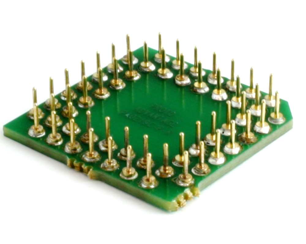 PLCC-52 to PGA-52 Pin 1 Out SMT Adapter (50 mils / 1.27 mm pitch) Compact Series 1