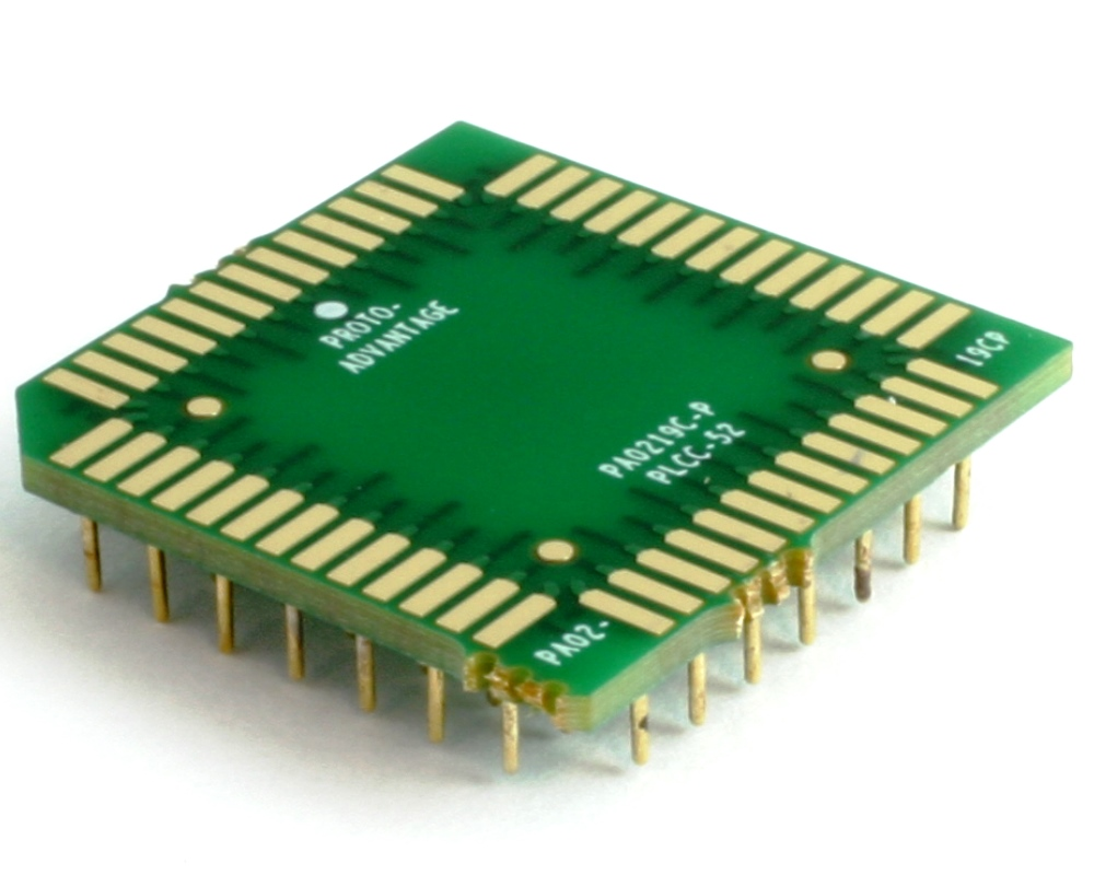 PLCC-52 to PGA-52 Pin 1 In SMT Adapter (50 mils / 1.27 mm pitch) Compact Series 0