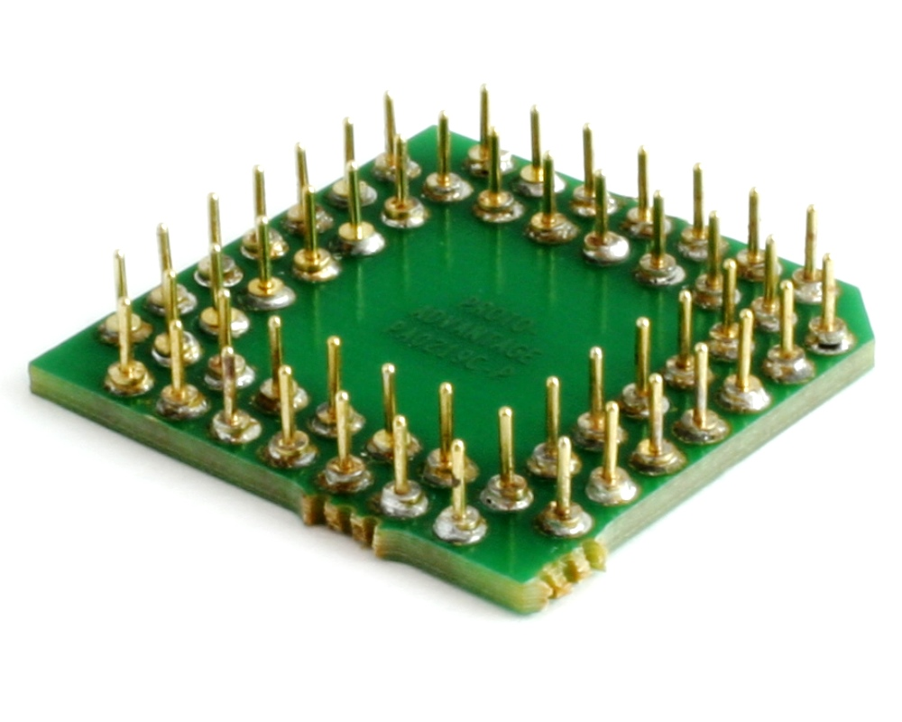 PLCC-52 to PGA-52 Pin 1 In SMT Adapter (50 mils / 1.27 mm pitch) Compact Series 1